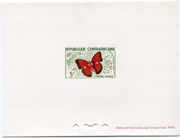 CENTRAFRIQUE EPREUVE DE LUXE DU N°7  3F. CYMOTHOE SANGARIS (PAPILLON) - Centrafricaine (République)