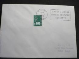 5 Flammes Du Département Du Cantal  5 Enveloppes - Oblitérations Mécaniques (flammes)