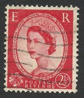 Great Britain, 2 1/2 P. 1956, Sc # 321, Mi # 286xX, Used. - 1952-.... (Elizabeth II)