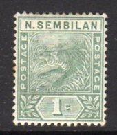 Malaya Negri Sembilan 1891-4 1c Tiger, Hinged Mint, (SG 2) - Negri Sembilan
