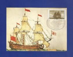 Mi.Nr.1180 , Einwanderung Der Ersten Deutschen In Amerika - Hagenbach Maximum Karte - SS Krefeld 05.05.1983 - [7] Federal Republic