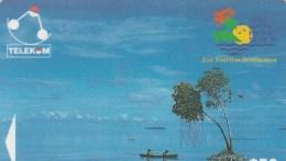 Solomon Is. - Canoe-Paddling, Sikaiana (logo '95) - 03SIE