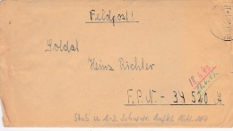 Feldpost WW2: To Aufklarungs-Abteilung 114 FP 34520A From RAD Lager 6/23 In Sillingsdorf Kreis Regenwalde From 6.1943 - - Militaria