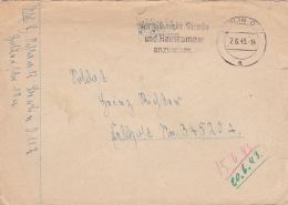 Feldpost WW2:  To Croatia - Stab Radfahr-Abteilung 114 FP 34520A P/m Berlin 7.6.1943 - Cover Only (C100A) - Militaria