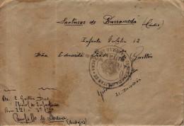 España  - GUERRA CIVIL - DE CAMPILLO DE LLERENA A SAN LUCAR DE BARRAMEDA - CENSURA MILITAR DE CAMPILLO - RARA - 1931-50 Brieven