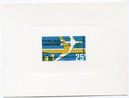 """CENTRAFRIQUE EPREUVE DE LUXE DU PA 38 MISE EN SERVICE DES DC-8F DE LA COMPAGNIE """"AIR AFRIQUE"""" - Centrafricaine (République)"""