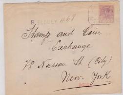 1920 - ELOBEY  - CARTA CERTIFICADA A NEW YORK - RARA - Elobey, Annobon & Corisco