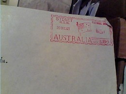 EMA  ATM FRAMA ROSSA  AUSTRALIA  SYDNEY 1963  COMMERCIAL BANK   PARTE LETTERA FK114 - Vignette Di Affrancatura (ATM/Frama)