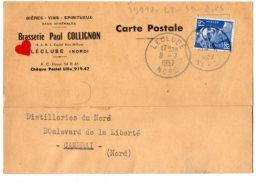 05283-LE-59-BIERES-VINS-SPIRITUEUX-Brasserie Paul COLLIGNON---LECLUSE-----carte Commerciale - Other Municipalities