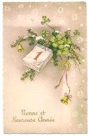 L44A086  -  Bonne Année -   Calendrier, Trèfles Et Fers à Cheval   - - Nouvel An