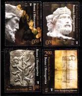 Bosnia And Herzegovina Muslim Gov´t MNH Scott #521-#524 Set Of 4 Bogomil Culture - Carvings - Bosnie-Herzegovine