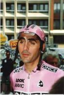 Photo De Coureur Cycliste Laurent JALABERT - Equipe ONCE - Tirage Argentique Sur Papier Kodak - Cycling