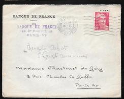 Yvert N°713 Sur Lettre Oblitéré Paris 80 - Rue Dupin En Decembre 1946 Ah10108 - 1945-54 Marianne De Gandon