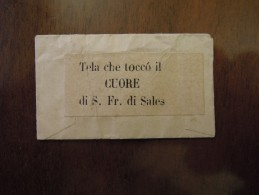 S.  Fr.  Di Sales  Tela Che Toccò Il CUORE  ( Reliquia ) - Religione & Esoterismo