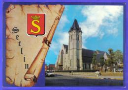 Carte Postale 59. Seclin L'église DS Citroën  Très Beau Plan - Seclin