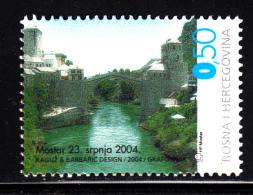 Bosnia And Herzegovina Croat Admin MNH Scott #129 50pf Reconstruction Of Old Bridge, Mostar - Bosnie-Herzegovine