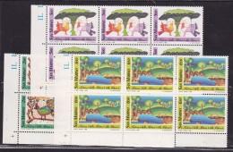 1989 San Marino Saint Marin NATURA  NATURE 6 Serie Di 3v. MNH** Blocco - Protezione Dell'Ambiente & Clima