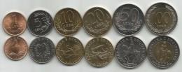 Albania 1996-2000. Set Of 6 Coins UNC 1 - 5 - 10 - 20 - 50 And 100 Lek Leke - Albanie