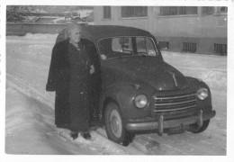 "04121 ""TORINO - FIAT 500 GIARDINIERA  - FEBBRAIO 1955"" AUTO, ANIMATA, FOTOGRAFIA ORIGINALE - Automobili"