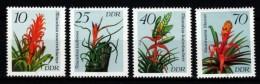 DDR 1988  MiNr. 3149/ 3152  ** / Mnh   Bromelien - Pflanzen Und Botanik