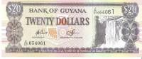 Guyana - Pick 30e - 20 Dollars 2009 - Unc - Guyana