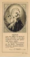 IMAGE PIEUSE HOLY CARD SANTINI Stabat Mater Dolorosa Verdier Paray Le Monial Dédicace Ste Marie Du Désert Bellegarde - Devotieprenten