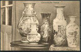 China Lindner, Tsingtau Postcard Chinese Vases - China