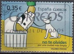España 2011 Valeurs Civiques Nettoyage Des Crottes De Votre Chien O - 1931-Aujourd'hui: II. République - ....Juan Carlos I