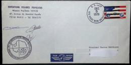Pli IAGP. 1978. G.Rouillon. Posté US Navy. Dome C. EPF Et IPS. 3 Signatures De L'équipe Française. - French Southern And Antarctic Territories (TAAF)
