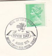 1975 GB Stamps COVER EVENT Pmk Illus DRAGON RAF VALLEY OPEN DAY I British Forces Airforce Dragons - Mythology