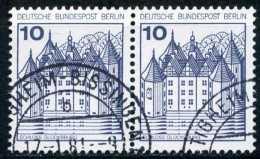 A10-59-4) Berlin - Michel 532 Waagrechtes Paar - OO Gestempelt (B) - 10/10Pf  Burgen Und Schlösser - Gebraucht