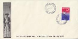 Enveloppe  FDC  1er  Jour   ANDORRE   Bicentenaire  De  La   REVOLUTION   FRANCAISE    1989 - Révolution Française