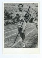 """Photo: Souvenir De Mon Passage à Croissy Sur Seine -ALAIN MIMOUN-Arrivée Du 5000 M Des Jeux Olympiques D´Helsinki 1952 """" - Sporten"""