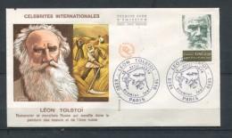 1978  FRANCE  FDC 1ER JOUR LEON TOLSTOI ECRIVAIN - Writers
