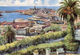 Gino Frattini - Genova : Il Porto Visto Dal Castello De Albertis - Andere Illustrators