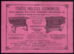 Anuncio Antigo FOGÕES INGLEZES Publicidade Lojas Covilhã E Porto. Old Advertising CAST IRON OVEN PORTUGAL - Portugal