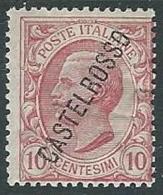 1924 CASTELROSSO EFFIGIE 10 CENT MH * - K121 - Castelrosso