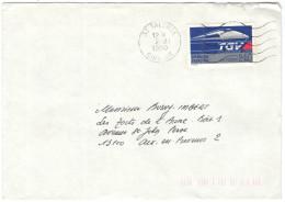 FRANCIA - France - 1990 - TGV Atlantique 1989 - Seul - Viaggiata Da Talence Per Aix-en-Provence, France - Marcophilie (Lettres)