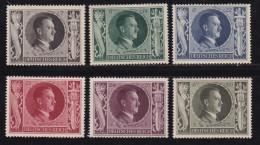 DEUTSCHES REICH, 1943, Unused (no Glue) Stamp(s), Hitler, MI 844-849, #16173 , - Unused Stamps