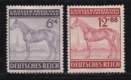DEUTSCHES REICH, 1943, Unused (no Glue) Stamp(s), Racing Wien, MI 857-858, #16181 , - Germany