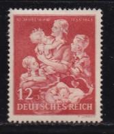 DEUTSCHES REICH, 1943, Unused (no Glue) Stamp(s), Winterhelp, MI 859, #16182 , - Germany