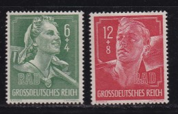 DEUTSCHES REICH, 1944, Unused (no Glue) Stamp(s), Labourers, MI 894-895, #16198 , - Unused Stamps