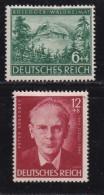 DEUTSCHES REICH, 1943, Hinged Unused Stamp(s), Peter Rosegger, MI 855-856, #16208 , - Germany