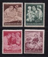 DEUTSCHES REICH, 1945, Hinged Unused Stamp(s), Mother And Child, MI 869-872 #16191 , - Unused Stamps