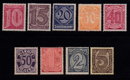 DEUTSCHES REICH, 1920, Hinged Unused Stamp(s), Dienstmarken MI D23=D33,#16215 , - Germany