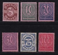 DEUTSCHES REICH, 1922, Hinged (no Glue) Unused Stamp(s), Dienstmarken MI D67=D74, #16220 , - Germany