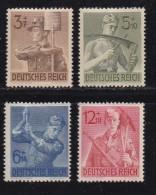DEUTSCHES REICH, 1943, Hinged Unused Stamp(s), Labourers, Mi 850-853, #16175 , - Unused Stamps