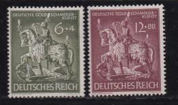 DEUTSCHES REICH, 1943, Hinged Unused Stamp(s), Gold Art, MI 860-861, #16183 , - Germany
