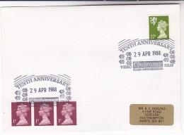 1988 CINECOSSE VIDEO FILM 10th ANNIV Event COVER Movie Cinema Ellon Aberdeen Gb Stamps - Cinema