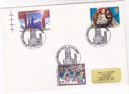 1989 Ely GB Stamps COVER EVENT Pmk CHRISTMAS Illus ELY CATHEDRAL  Church Religion Christianity - Christmas